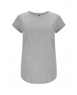 "T-shirt damski ""Rolled Up"" marka EARTHPOSITIVE 7"