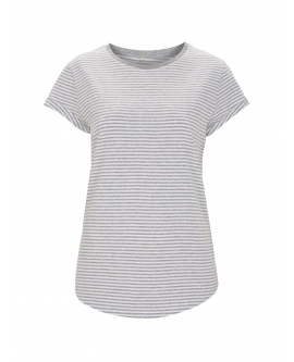 "T-shirt damski ""Rolled Up"" marka EARTHPOSITIVE 10"