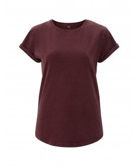 "T-shirt damski ""Rolled Up"" marka EARTHPOSITIVE 16"