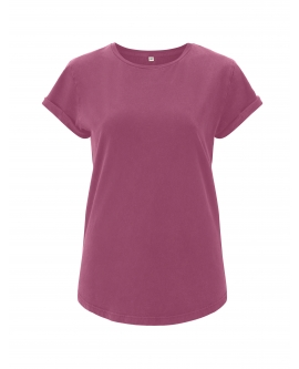 "T-shirt damski ""Rolled Up"" marka EARTHPOSITIVE 20"