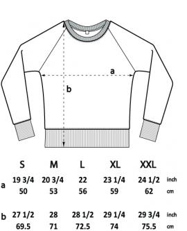 Bluza Raglan Unisex marka EARTHPOSITIVE 5